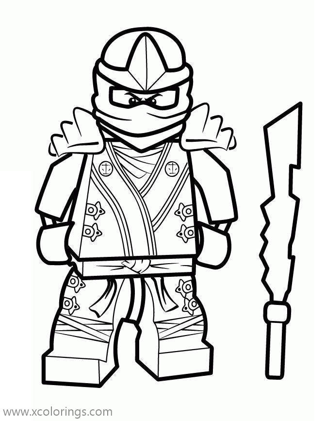 Ninja Of Fire From Lego Ninjago Coloring Pages - XColorings.com
