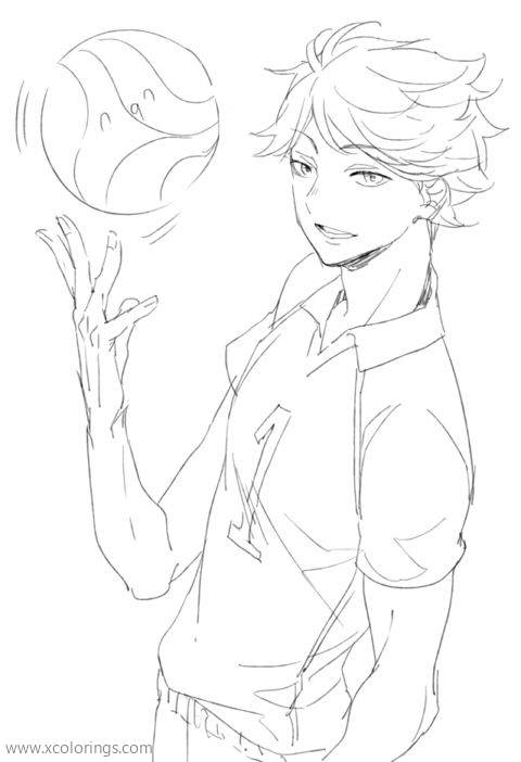 Free Oikawa Tooru from Haikyuu Coloring Pages printable