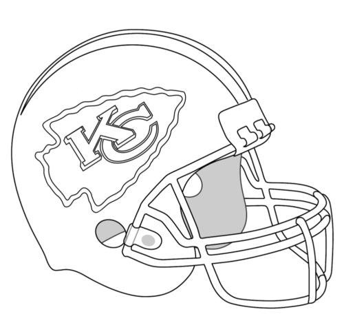 Patrick Mahomes Coloring Pages Kc Chiefs Helmet Xcolorings Com