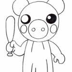Robby from Piggy Roblox Coloring Pages - XColorings.com