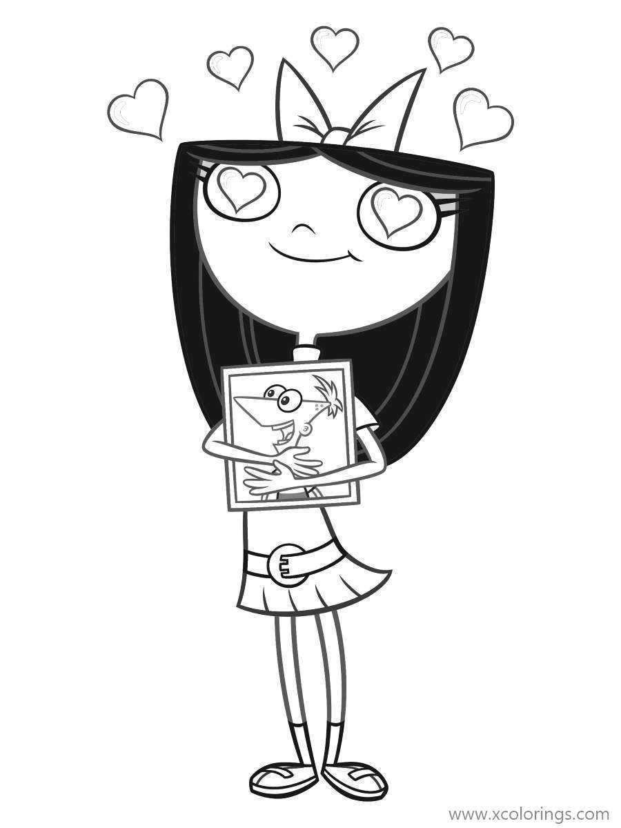 Phineas And Ferb Coloring Pages Isabella Love Phineas Xcolorings Com