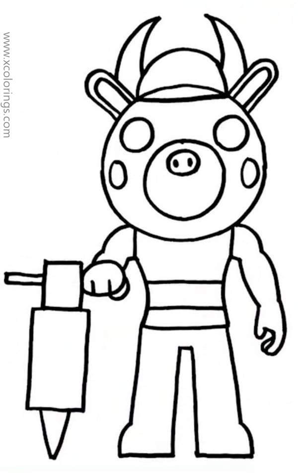 Piggy Roblox Coloring Pages Billy - XColorings.com
