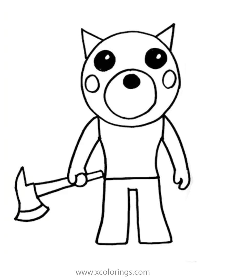 Piggy Roblox Coloring Pages Doggy - XColorings.com
