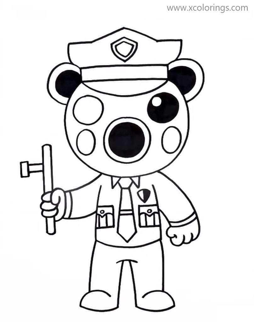 Piggy Roblox Coloring Pages Poley Adopt Me - XColorings.com