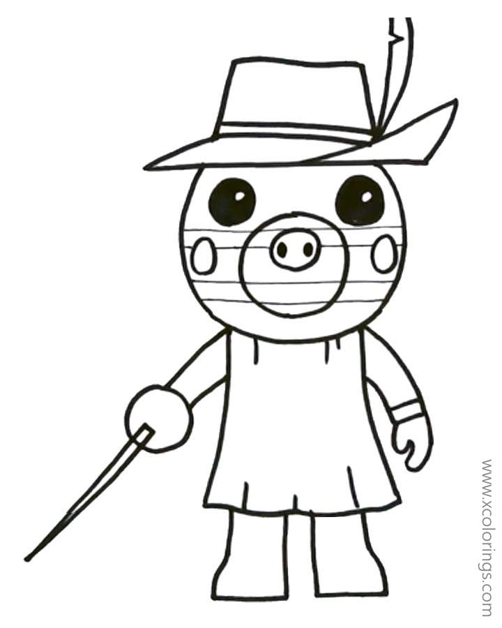 Piggy Roblox Zizzy Coloring Pages - XColorings.com