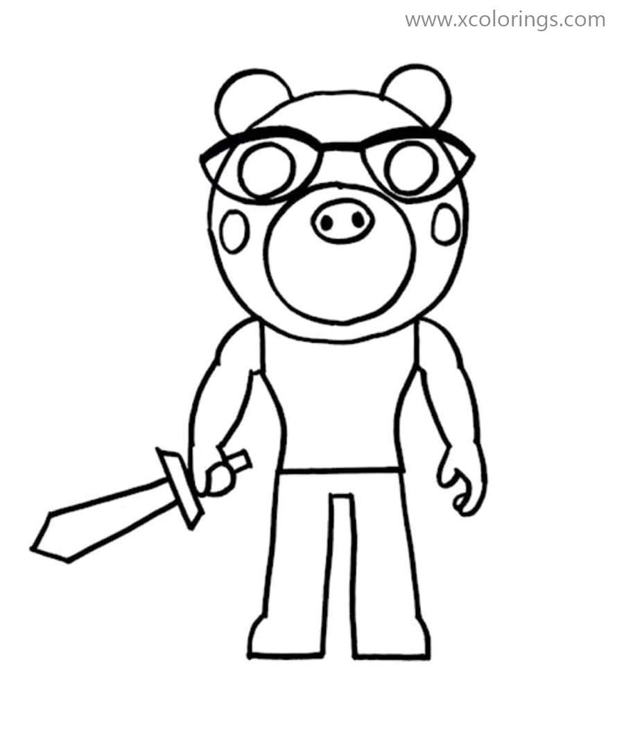 Pony from Piggy Roblox Coloring Pages - XColorings.com