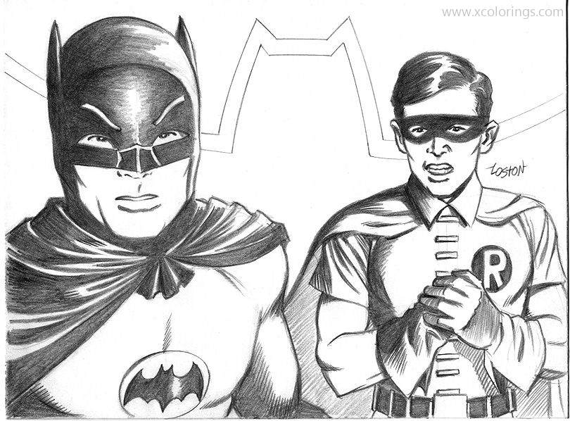 Realistic Batman And Robin Coloring Page Xcolorings Com