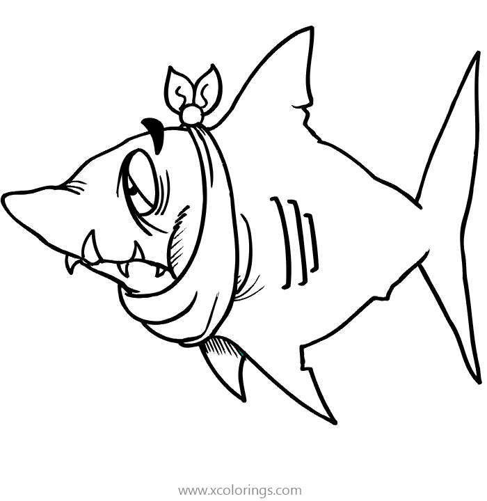 Free Shark is Hurt Coloring Pages printable