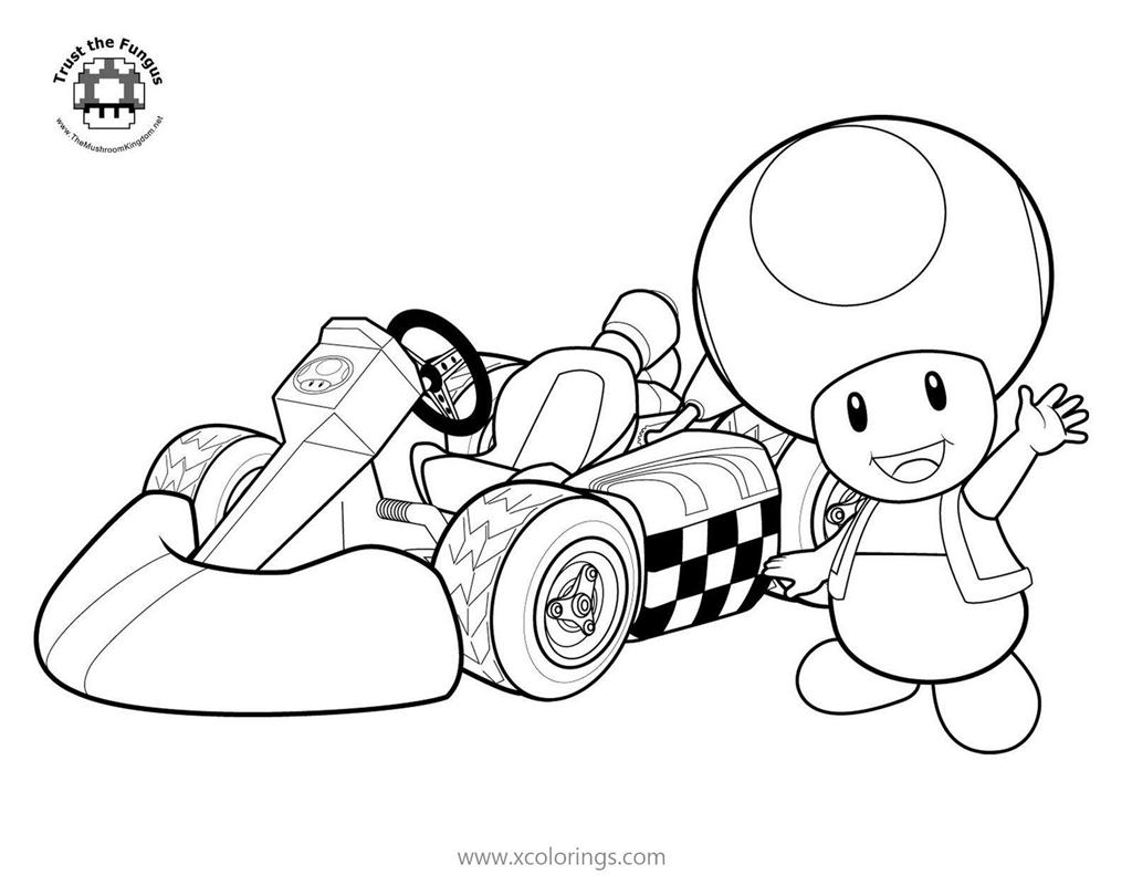 Toad From Mario Kart Coloring Pages Xcolorings Com