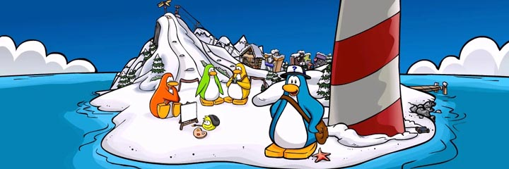 club penguin coloring pages series