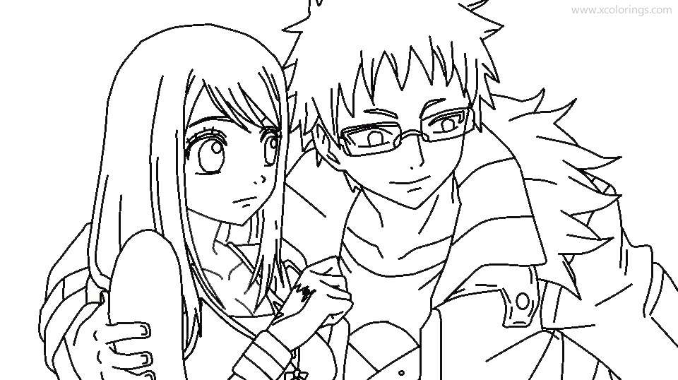 Free Anime Fairy Tail Coloring Pages printable