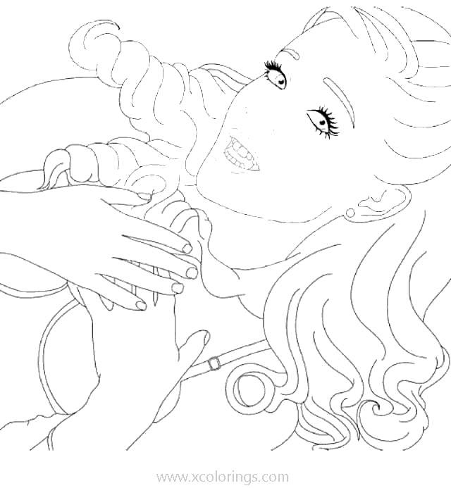 Ariana Grande Coloring Pages Sketch Xcolorings Com