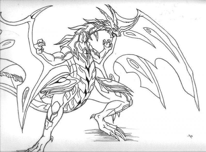 Bakugan Coloring Pages Drago Xcolorings Com
