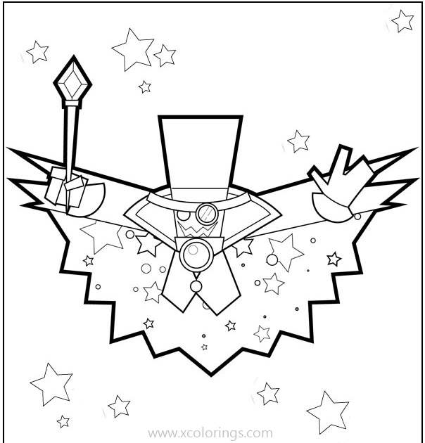 Free Count Bleck from Paper Mario Coloring Pages printable