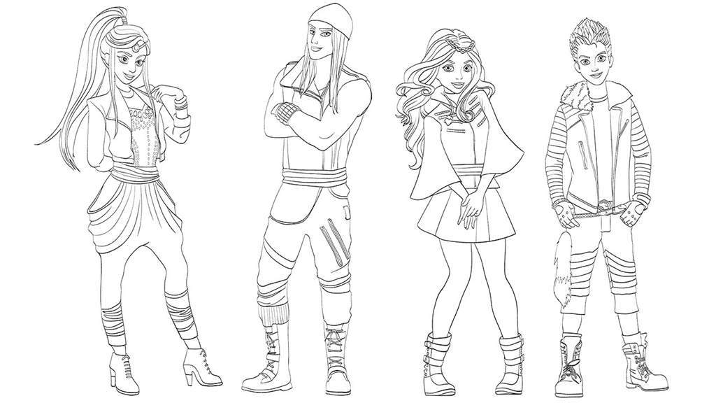 Descendants Team Coloring Pages XColorings