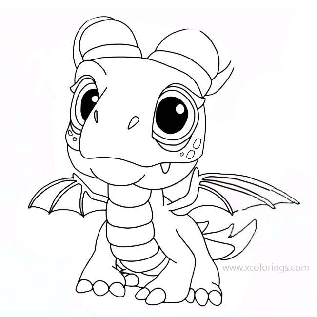 Dragons Rescue Riders Coloring Pages Aggro - XColorings.com