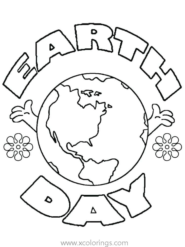 Free Earth Day Coloring Pages Earth with Hands printable