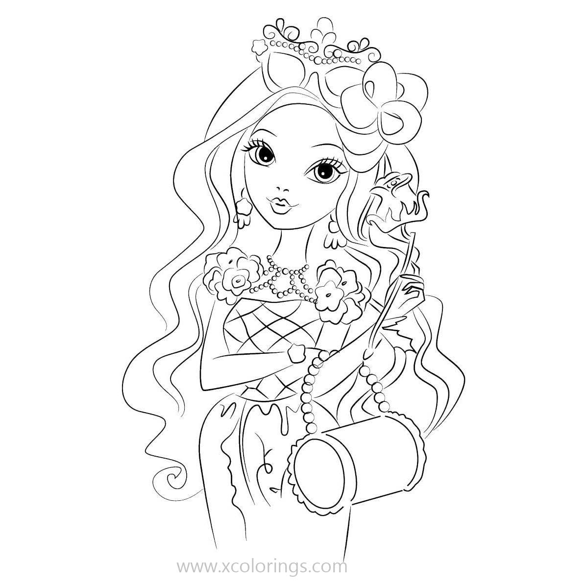 Free Ever After High Cute Briar Beauty Coloring Pages printable