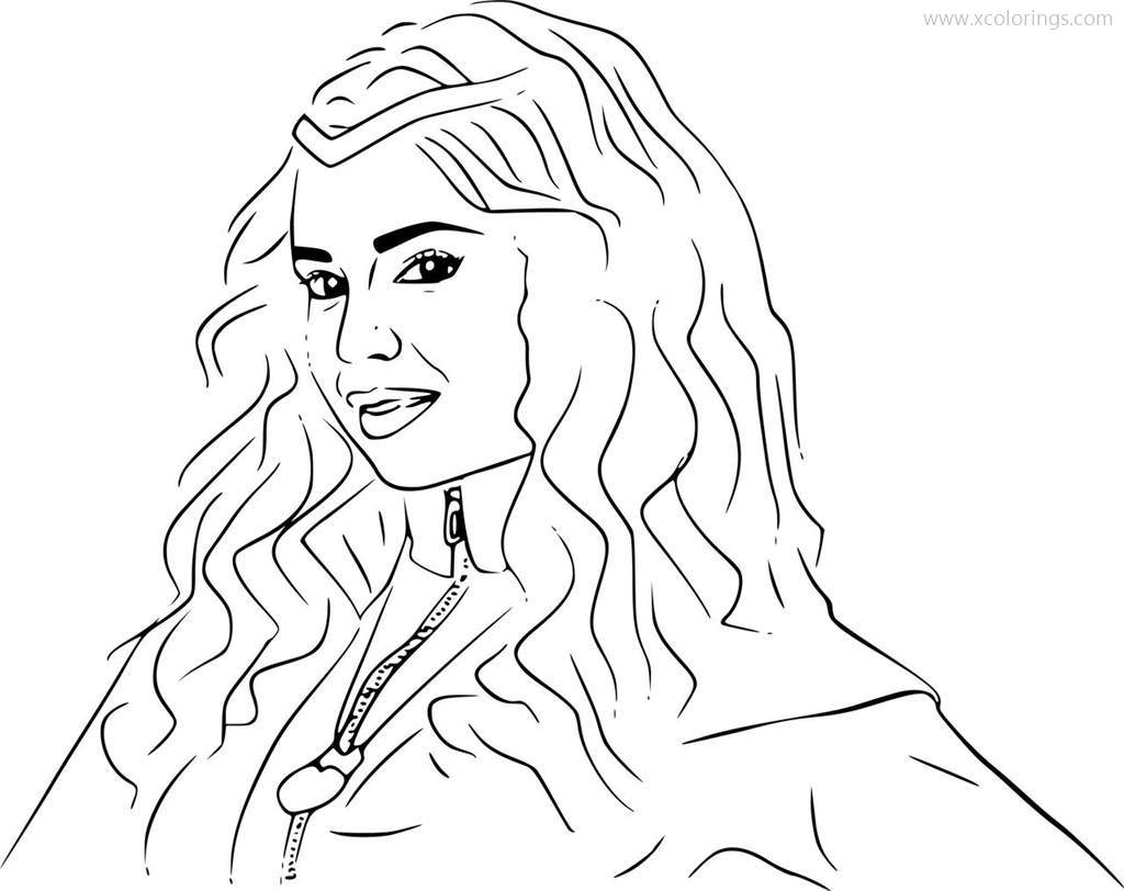 Evie From Descendants Coloring Pages Xcolorings Com