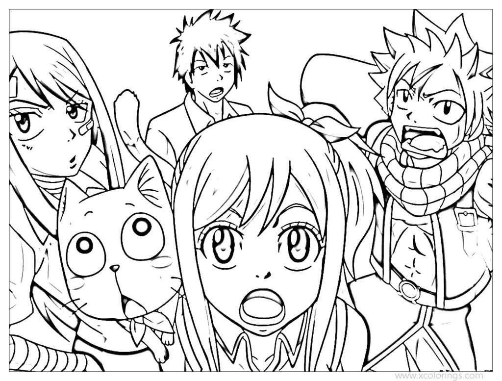 Free Fairy Tail Characters Coloring Pages printable