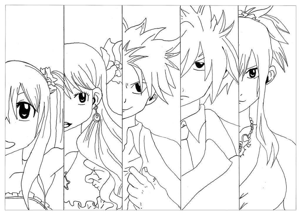 Free Fairy Tail Coloring Pages Boys and Girls printable