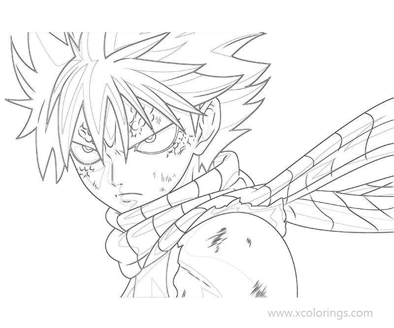 Free Fairy Tail Coloring Pages Natsu Dragneel printable