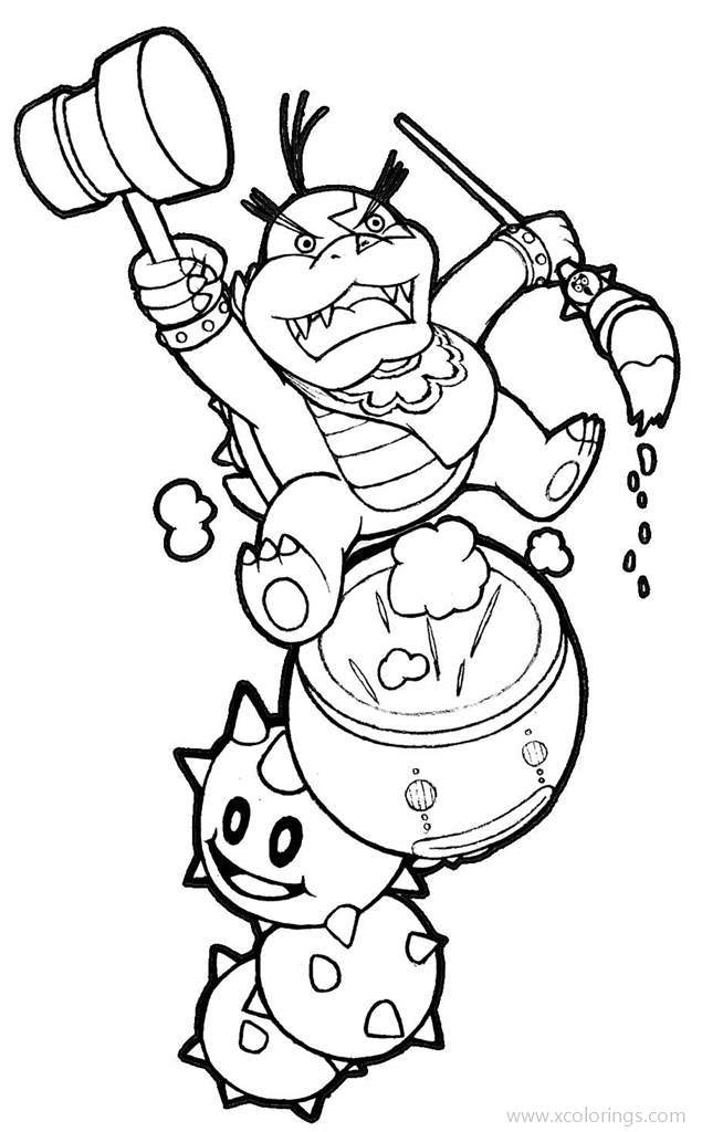 Koopalings Bowser Jr Coloring Pages Xcolorings Com