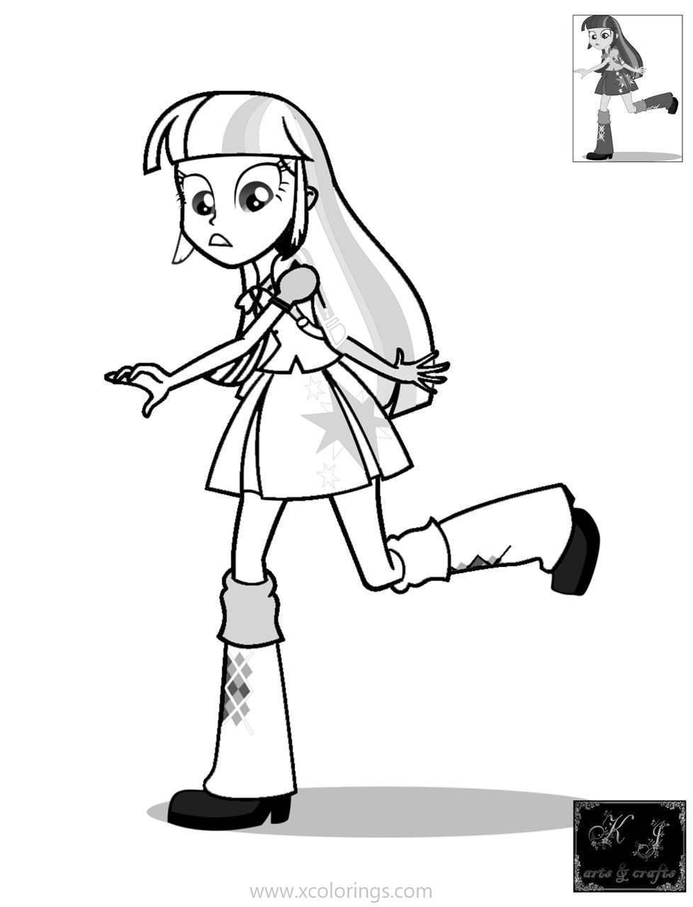 Mlp Equestria Girls Coloring Pages Twilight Sparkle Xcolorings Com