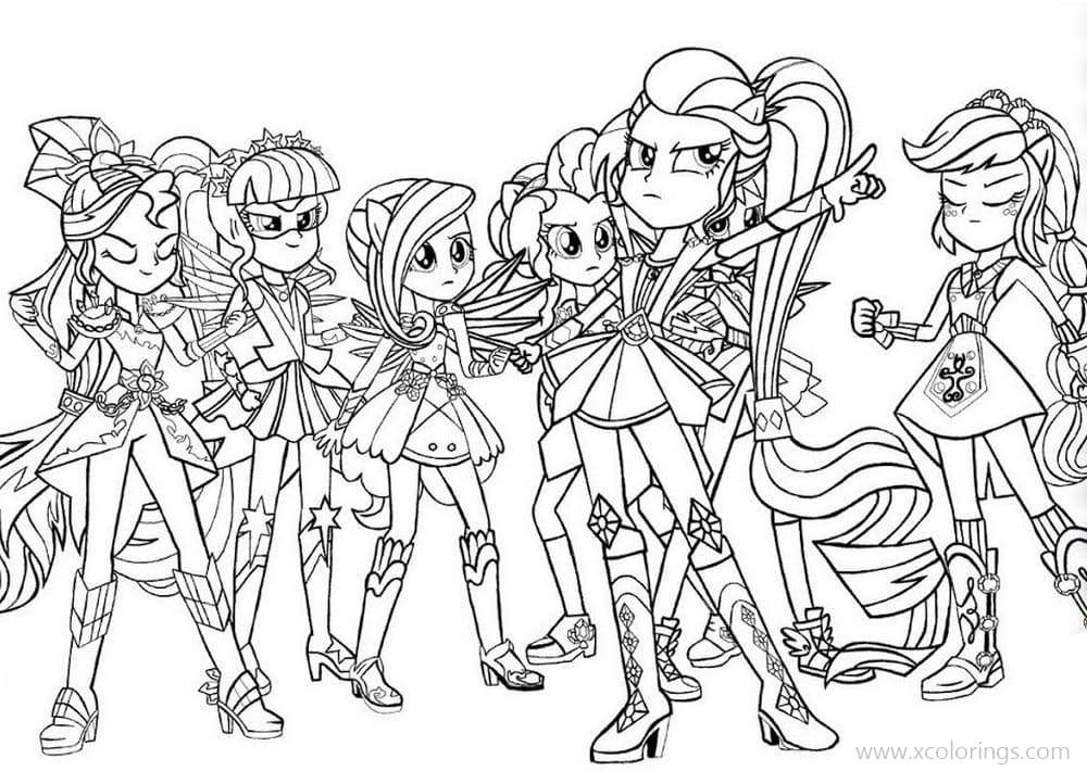 MLP Equestria Girls Friendship Game Coloring Pages - XColorings.com