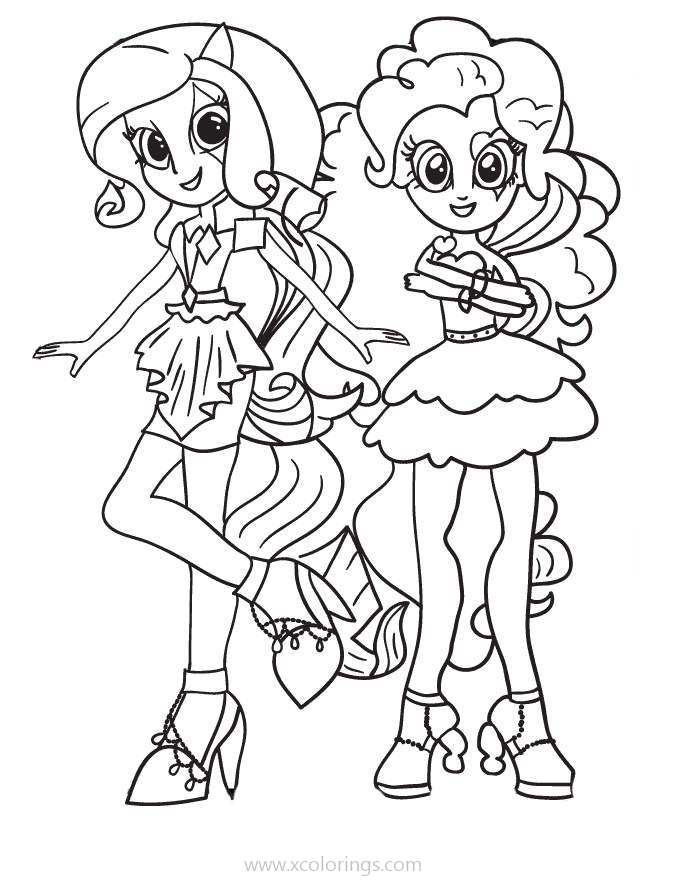 My Little Pony Equestria Girls Coloring Pages Rainbow Rocks - XColorings.com