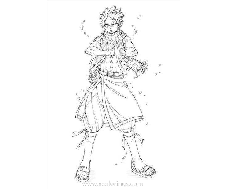 Free Natsu Dragneel From Fairy Tail Coloring Pages printable