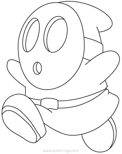 Paper Mario Coloring Pages Cute Shy Guy Xcolorings Com