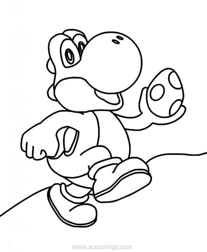Paper Mario Coloring Pages Yoshi Xcolorings Com
