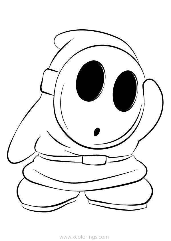 Paper Mario Shy Guy Coloring Pages - XColorings.com