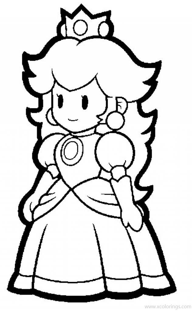 Princess Peach From Paper Mario Coloring Pages - XColorings.com