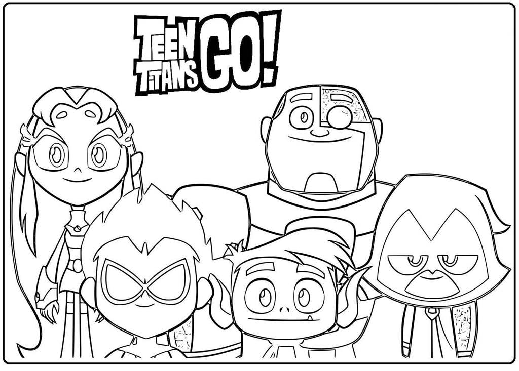 Teen Titans Go Heroes Coloring Pages Xcolorings Com