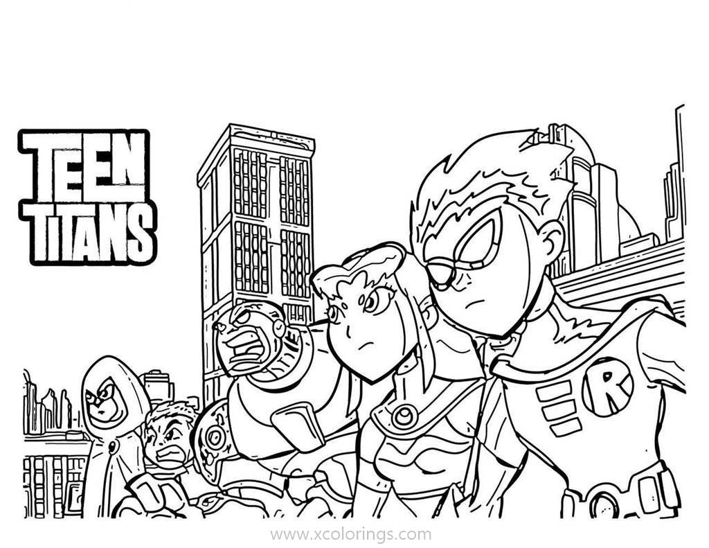 Teen Titans Go Team Coloring Pages XColorings