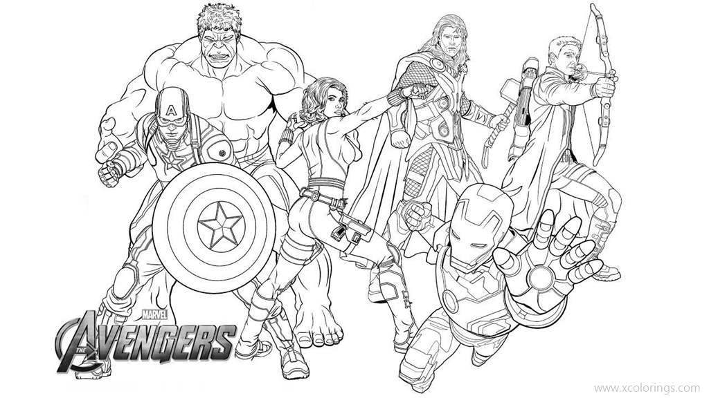 Thor from The Avengers Team Coloring Pages XColorings