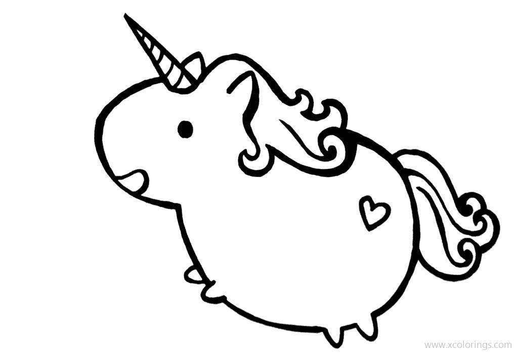 Unicorn From Pusheen Coloring Pages Xcolorings Com