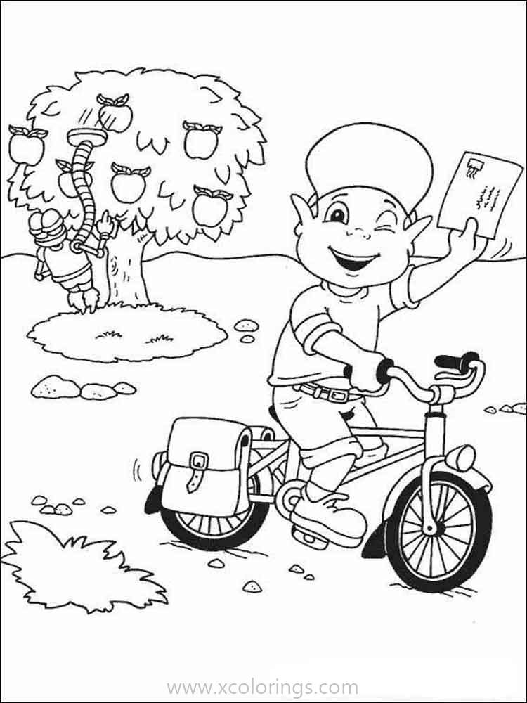 Adiboo Coloring Pages Riding A Bike Xcolorings Com