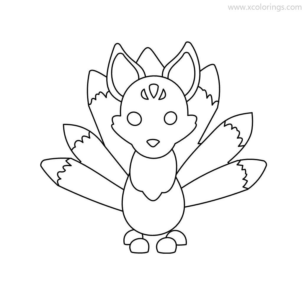 Adopt Me Kitsune Coloring Pages Xcolorings Com