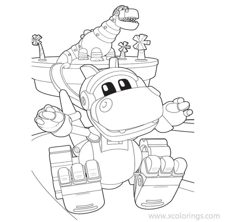 Animal Mechanical Rex Coloring Pages Xcolorings Com
