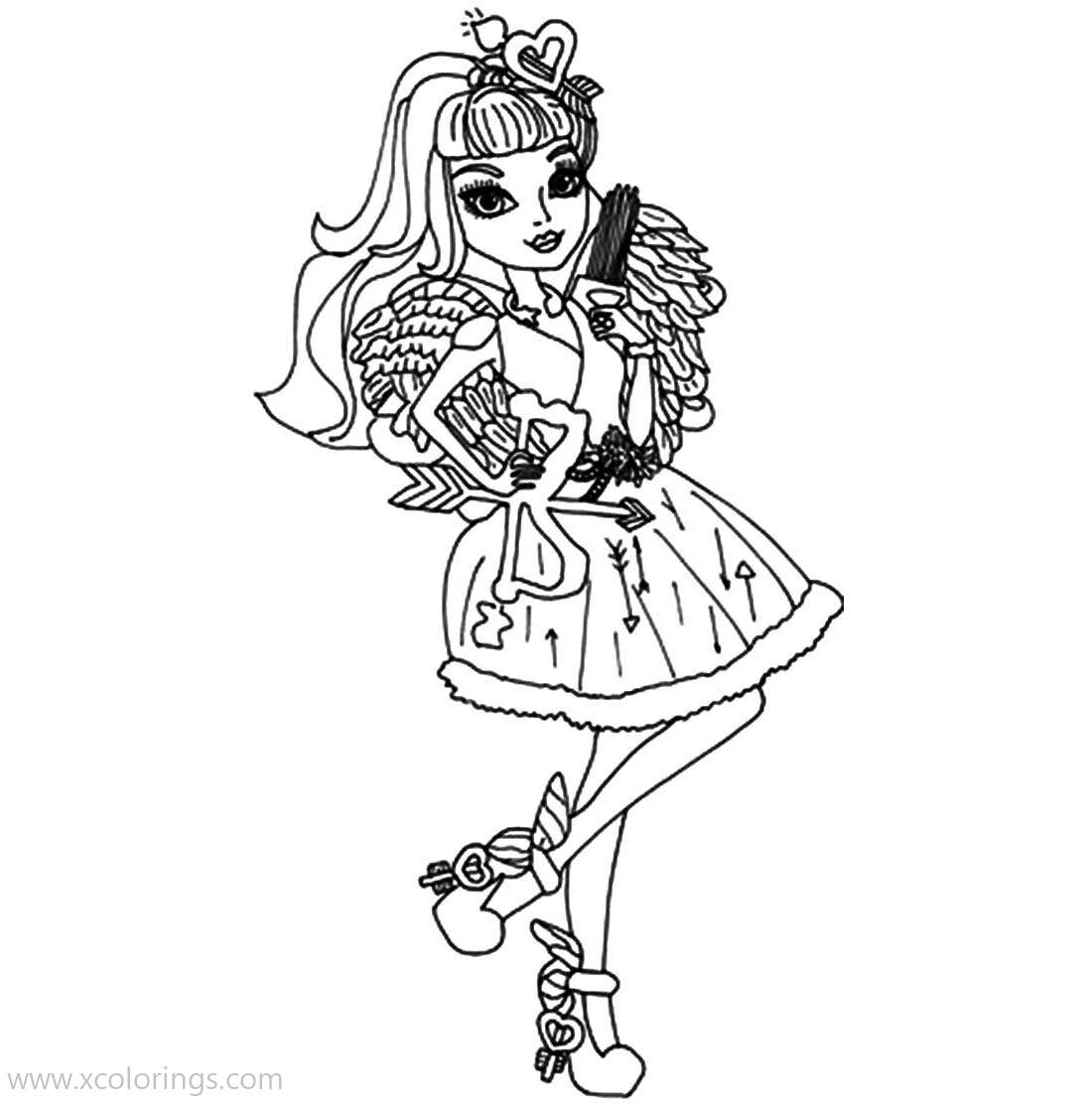 Free Cupid from Ever After High Coloring Pages printable