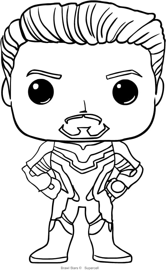 Funko Pop Avengers Coloring Pages Iron Man Xcolorings Com