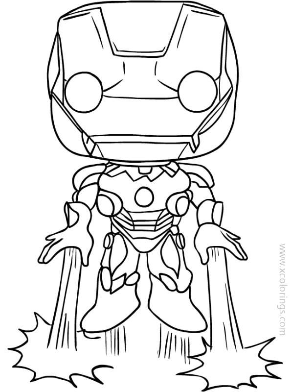 Funko Pop Coloring Pages Iron Man Xcolorings Com
