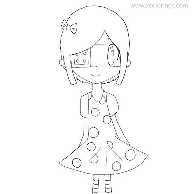 Free Girl from Animal Crossing Coloring Pages printable