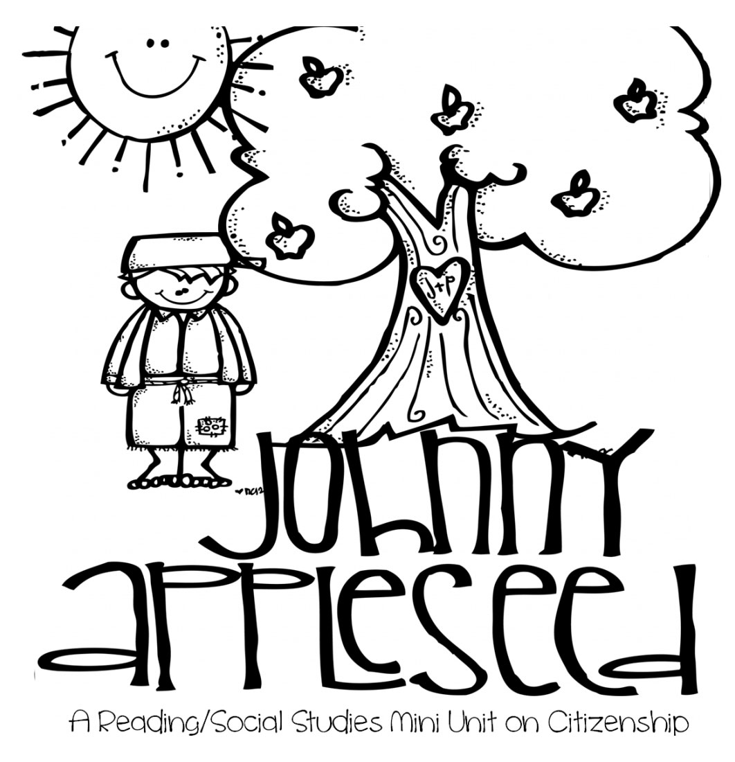 Johnny Appleseed Coloring Pages For Kids Xcolorings Com