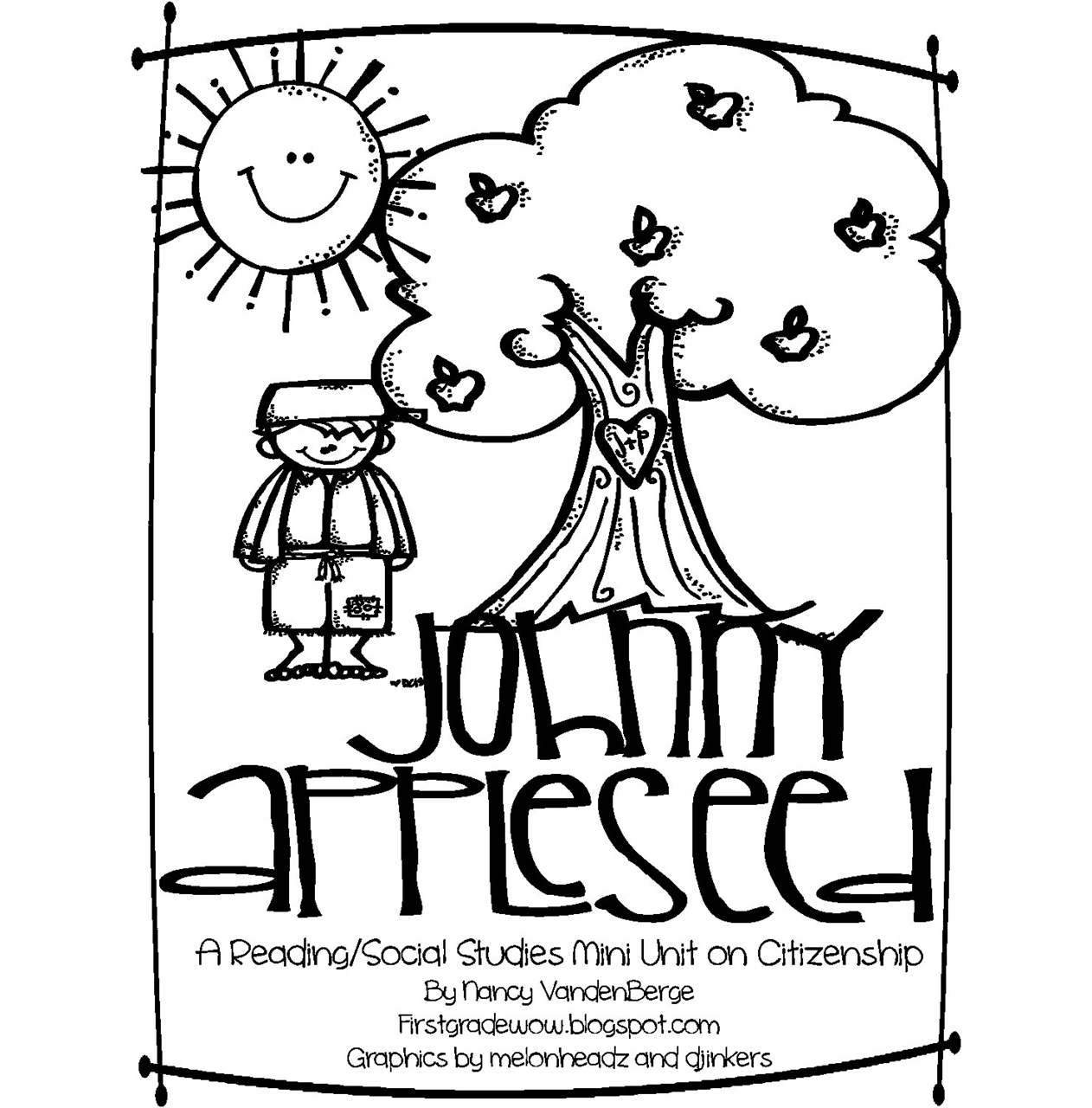 Free Johnny Appleseed Coloring Sheets printable