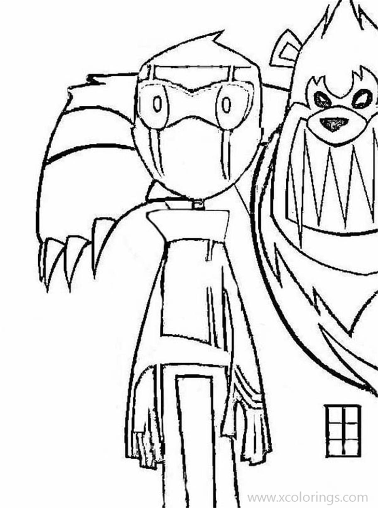 Randy Cunningham Coloring Pages Ninja And Beast Xcolorings Com