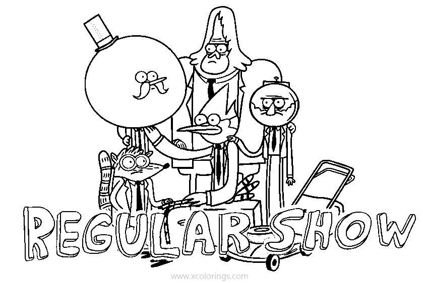 Regular Show Coloring Pages Mordecai Rigby Benson And Skips Xcolorings Com
